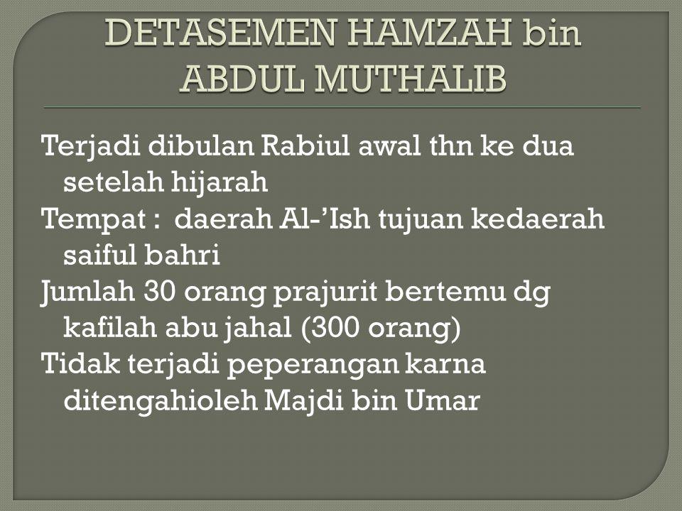 DETASEMEN HAMZAH bin ABDUL MUTHALIB