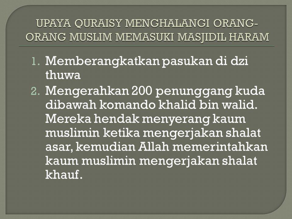 UPAYA QURAISY MENGHALANGI ORANG-ORANG MUSLIM MEMASUKI MASJIDIL HARAM
