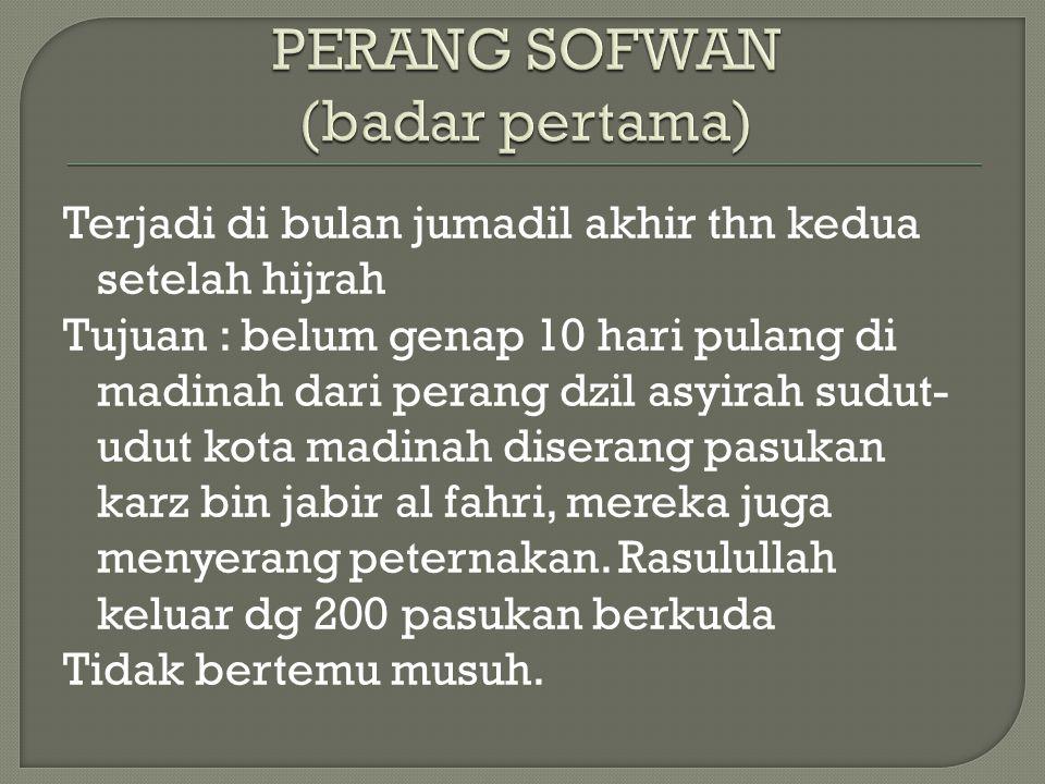 PERANG SOFWAN (badar pertama)