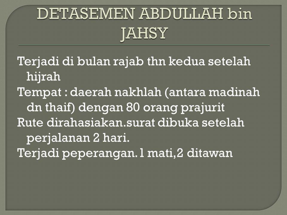 DETASEMEN ABDULLAH bin JAHSY