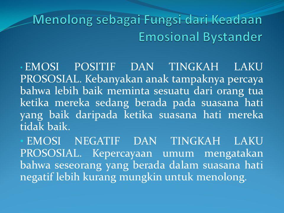 Menolong sebagai Fungsi dari Keadaan Emosional Bystander