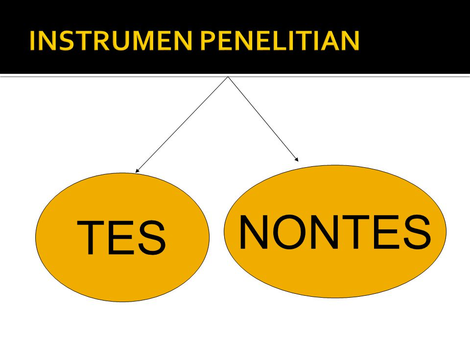 INSTRUMEN PENELITIAN NONTES TES