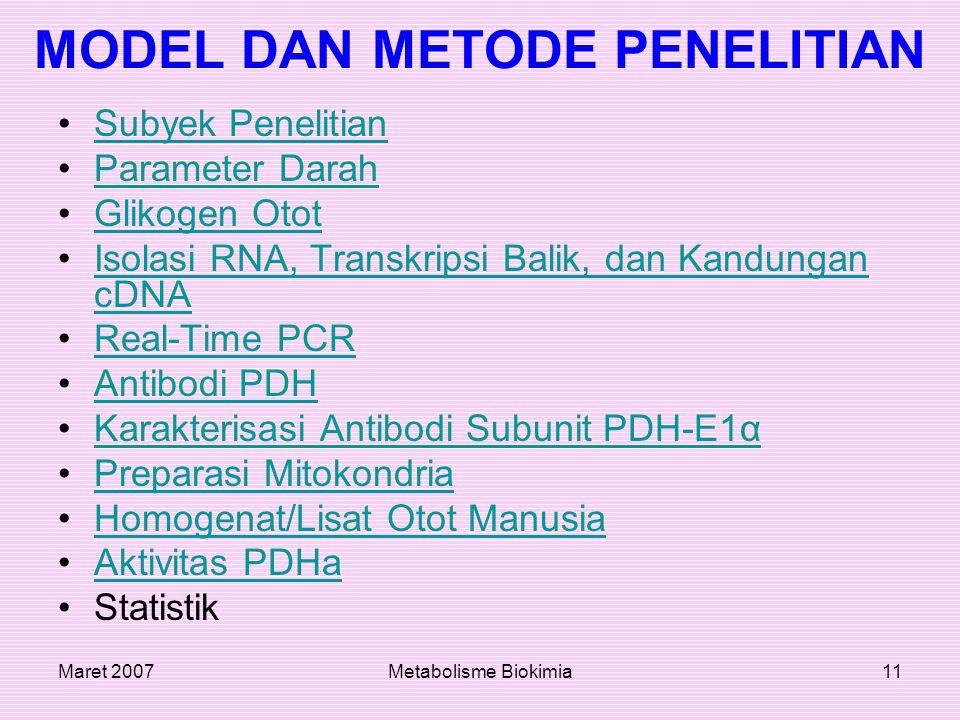 MODEL DAN METODE PENELITIAN