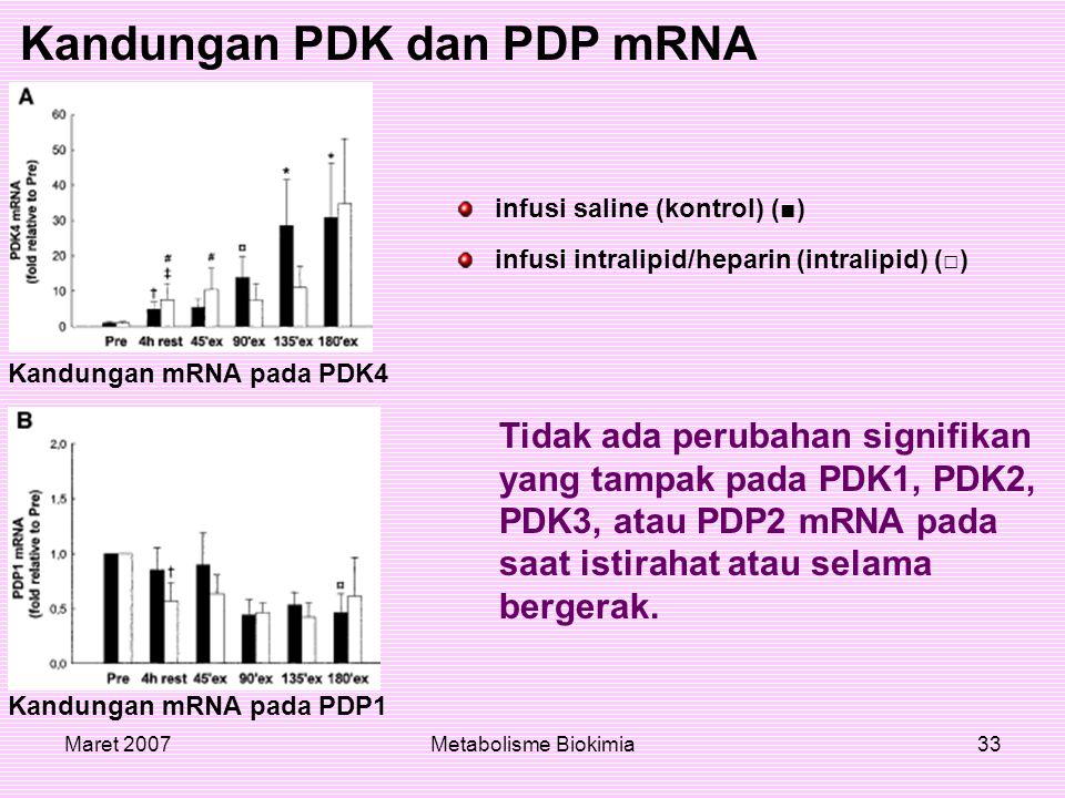 Kandungan PDK dan PDP mRNA