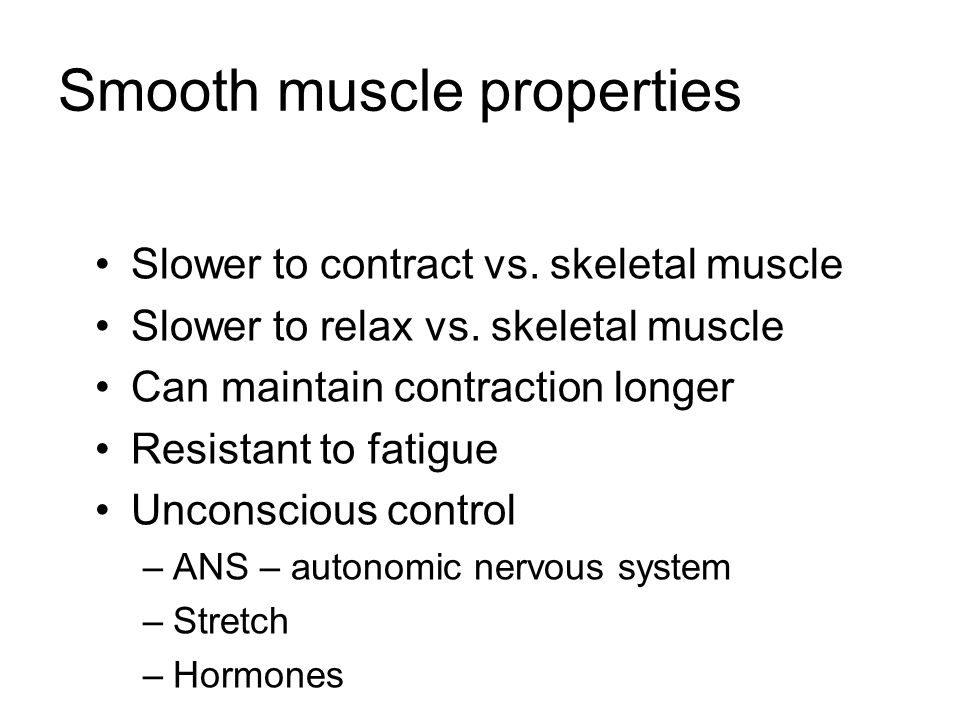 Smooth muscle properties