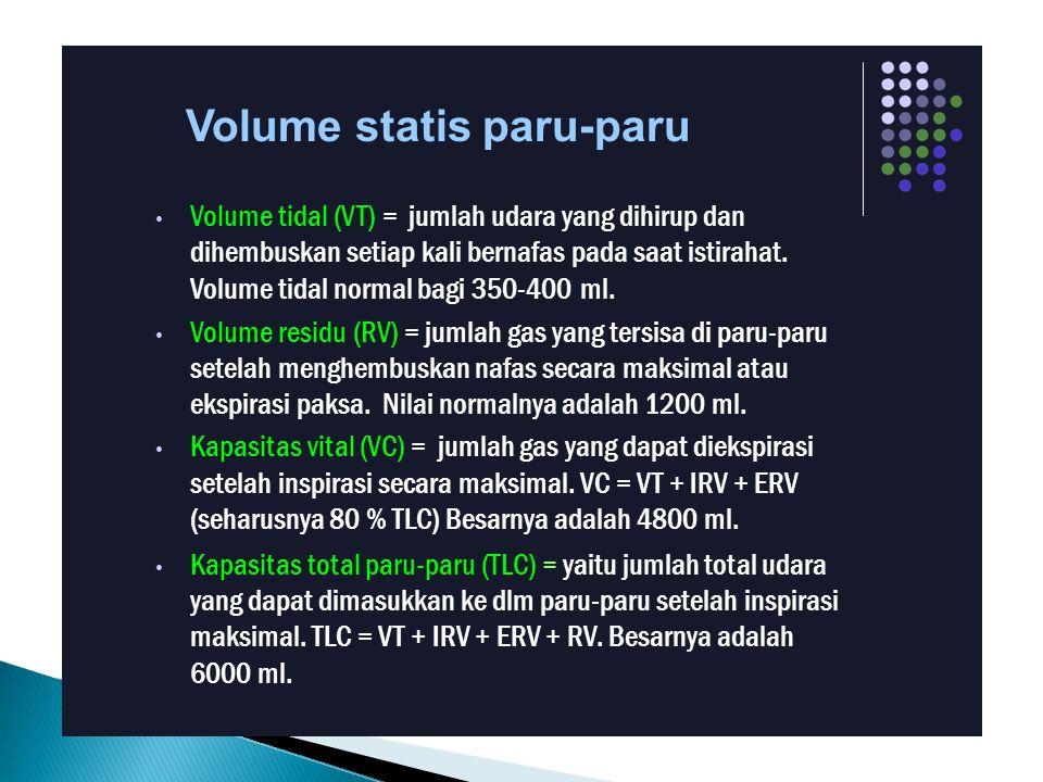 Volume statis paru-paru