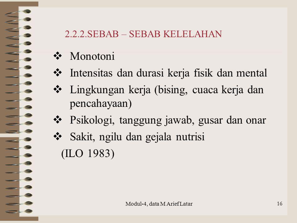 2.2.2.SEBAB – SEBAB KELELAHAN