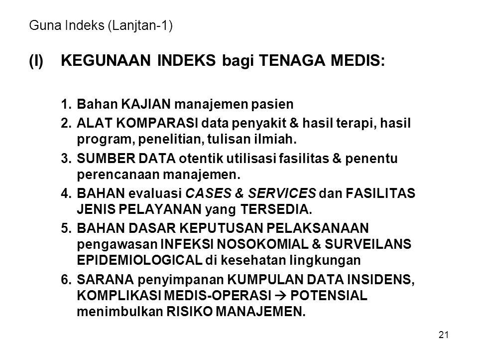 Guna Indeks (Lanjtan-1)