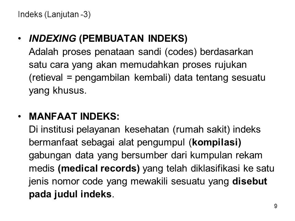INDEXING (PEMBUATAN INDEKS)