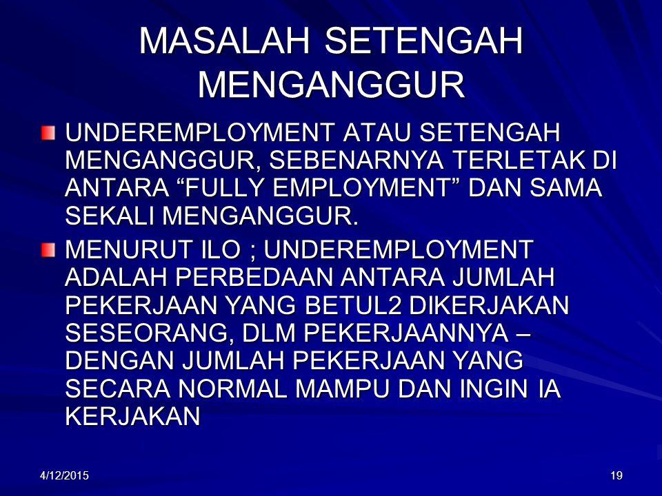 MASALAH SETENGAH MENGANGGUR