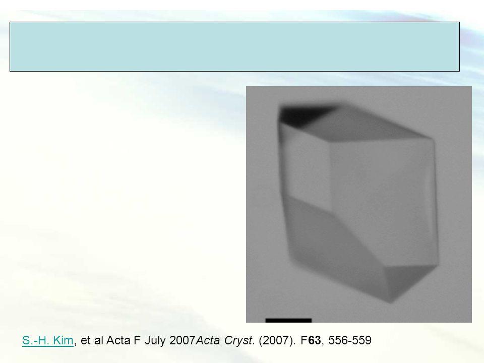 I222 (cubic symetry) S.-H. Kim, et al Acta F July 2007Acta Cryst. (2007). F63, 556-559