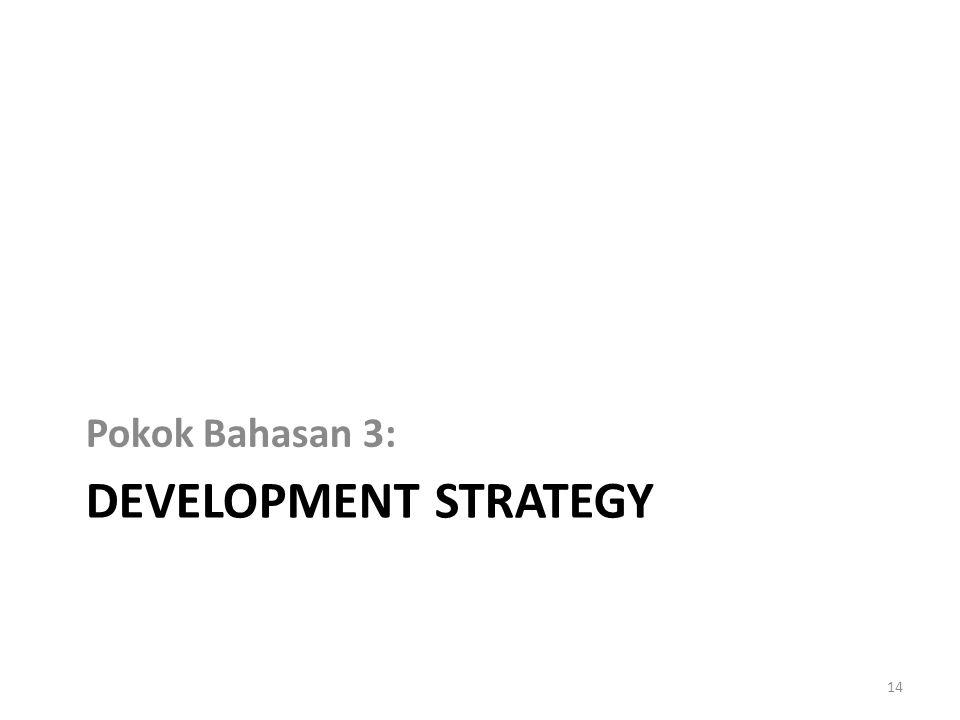 Pokok Bahasan 3: Development strategy