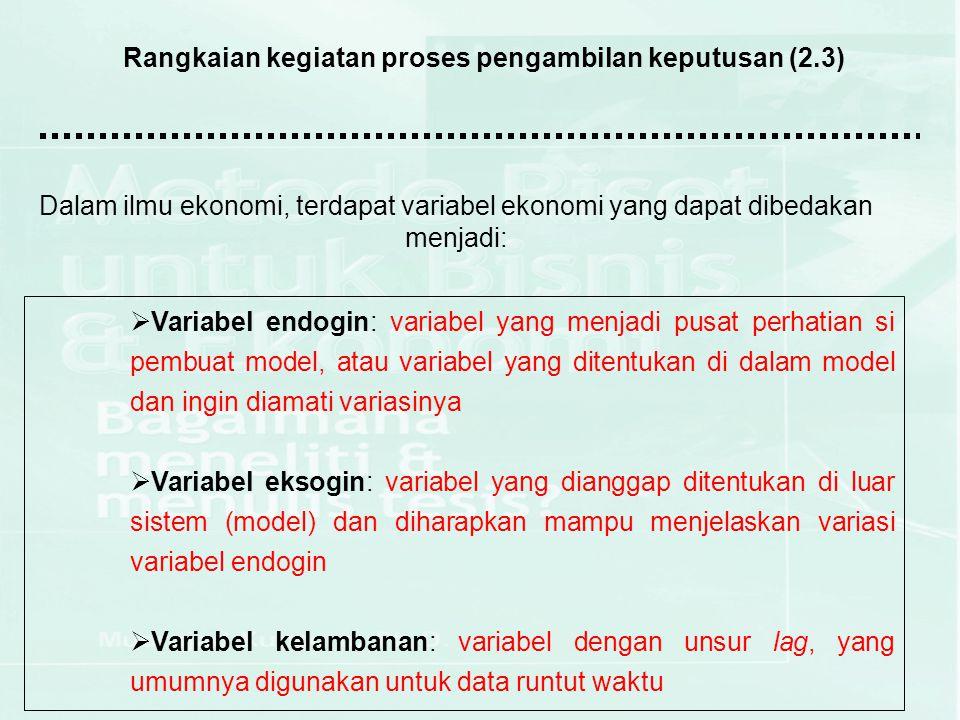 Rangkaian kegiatan proses pengambilan keputusan (2.3)