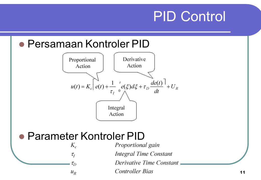 PID Control Persamaan Kontroler PID Parameter Kontroler PID