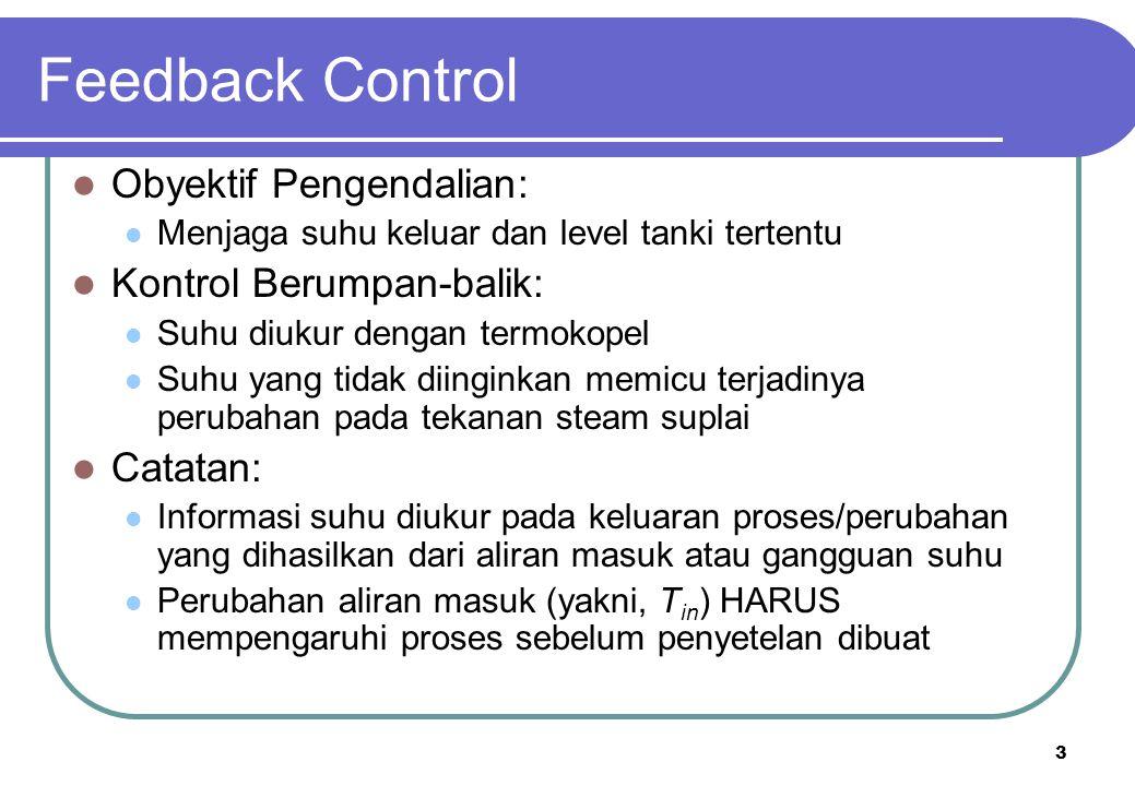 Feedback Control Obyektif Pengendalian: Kontrol Berumpan-balik: