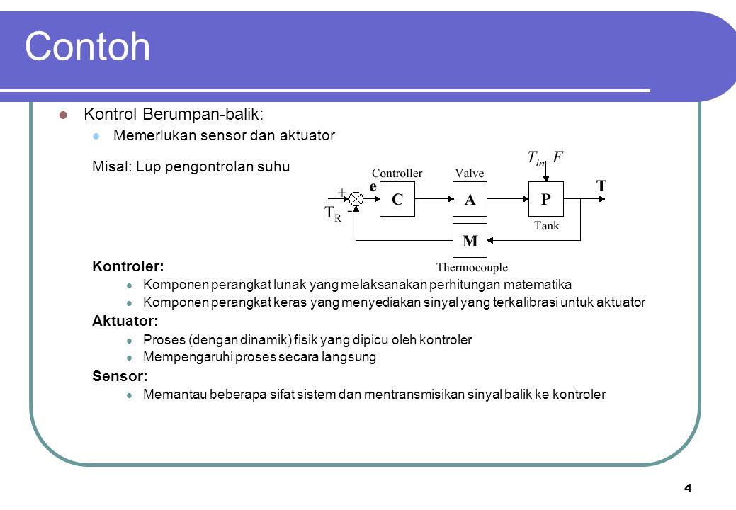 Contoh Kontrol Berumpan-balik: Memerlukan sensor dan aktuator
