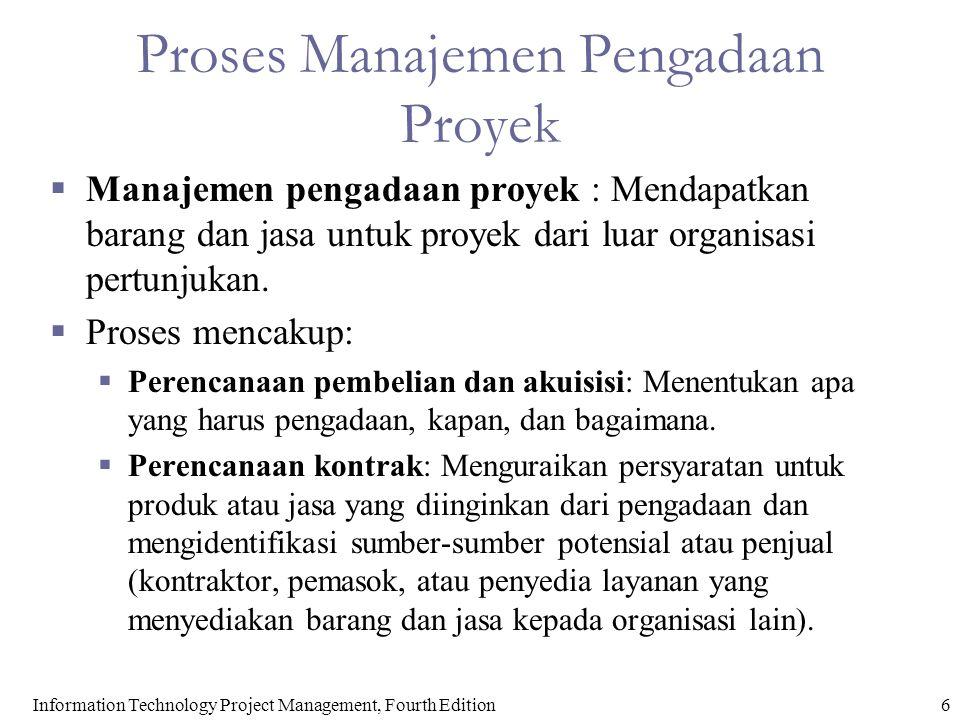 Proses Manajemen Pengadaan Proyek