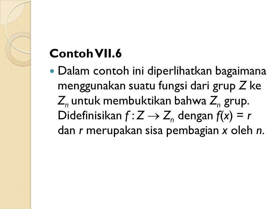 Contoh VII.6