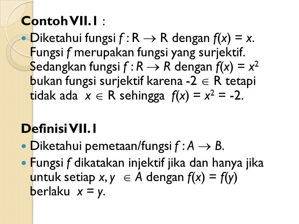 Contoh VII.1 :