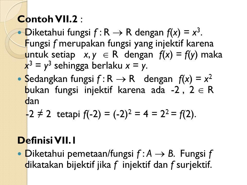 Contoh VII.2 :