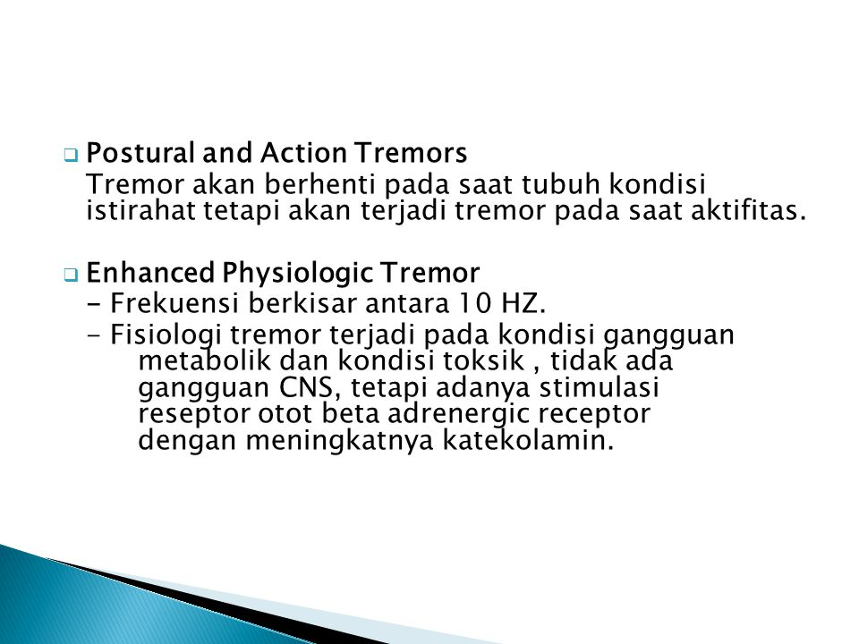 Postural and Action Tremors