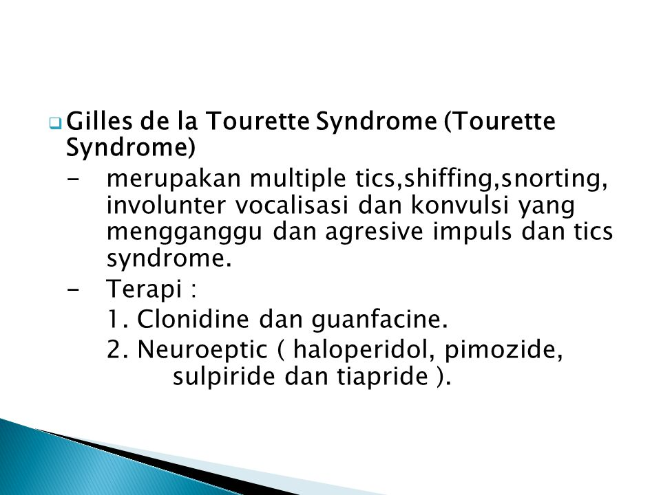 Gilles de la Tourette Syndrome (Tourette Syndrome)