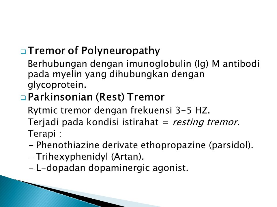 Tremor of Polyneuropathy
