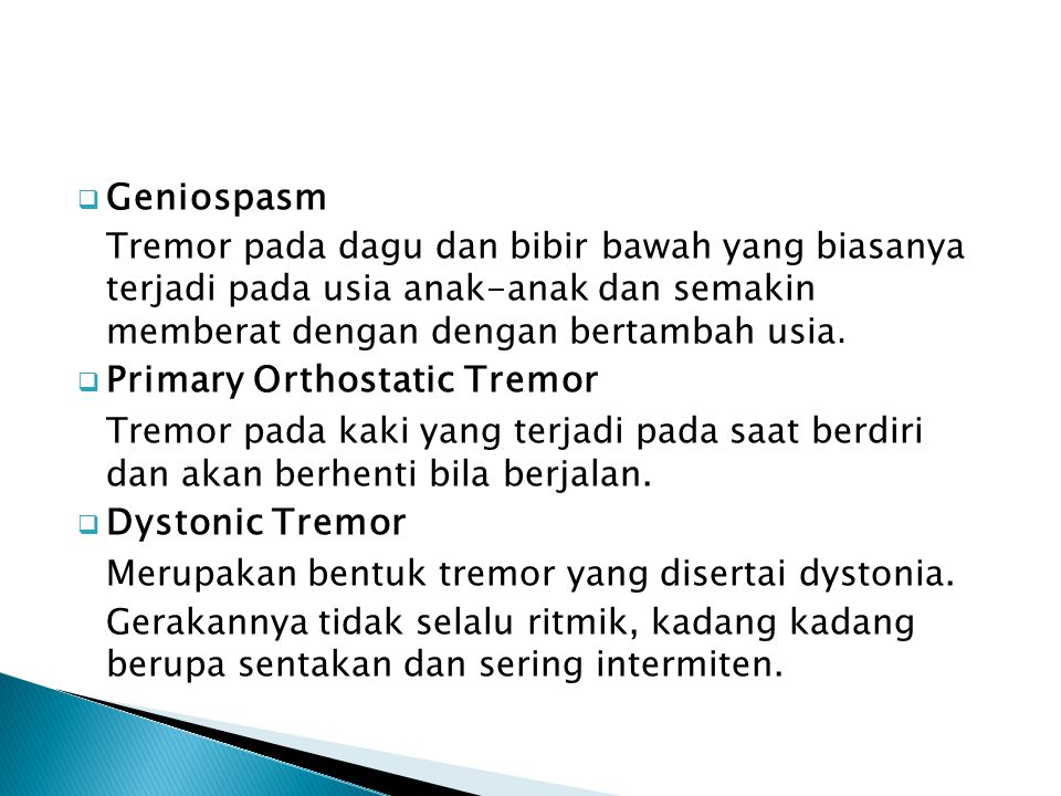 Primary Orthostatic Tremor