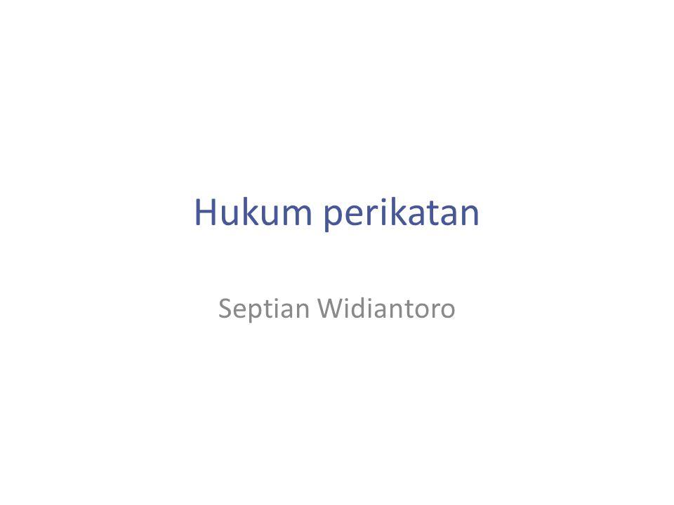 Hukum perikatan Septian Widiantoro