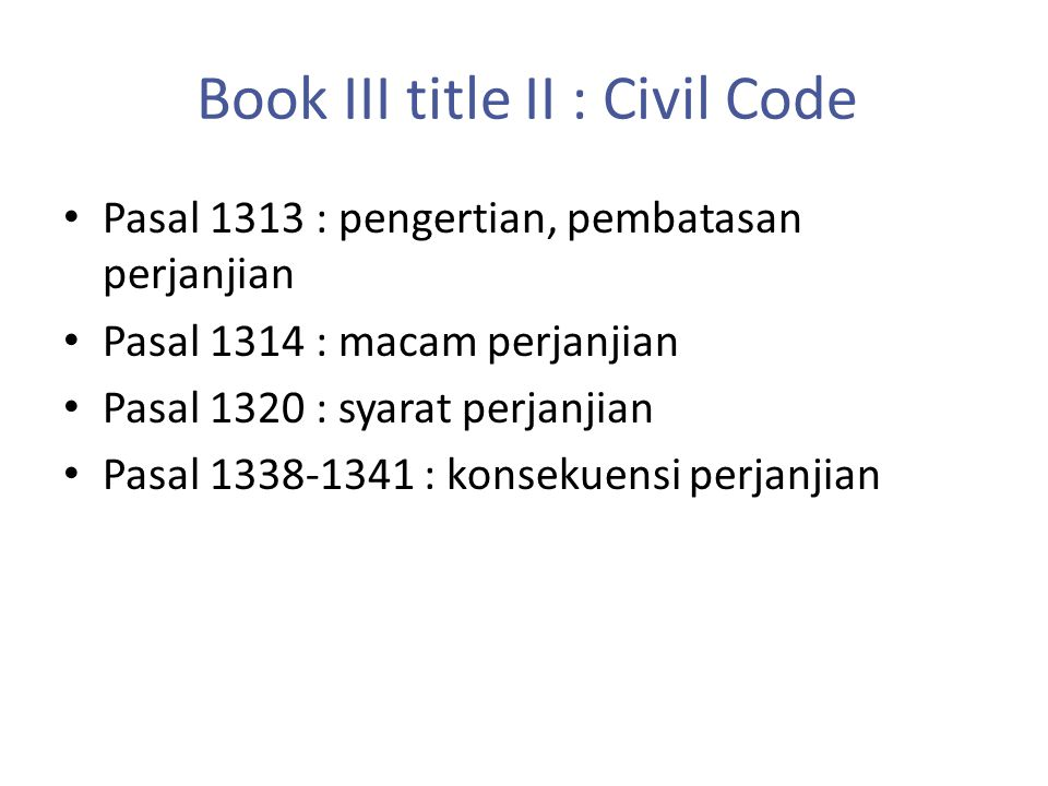 Book III title II : Civil Code