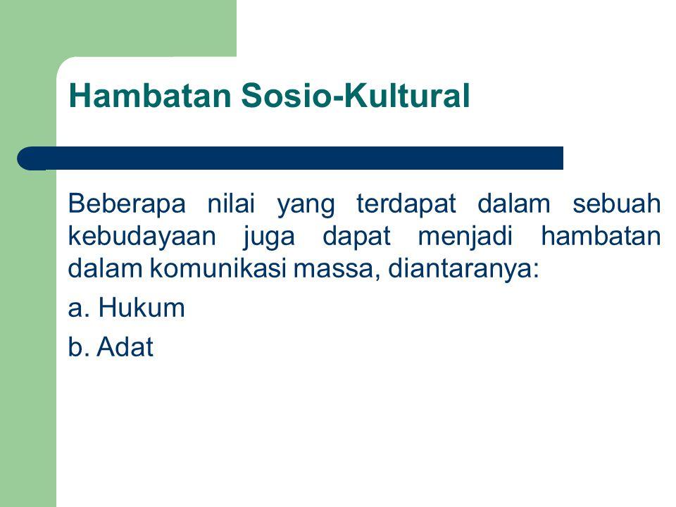 Hambatan Sosio-Kultural