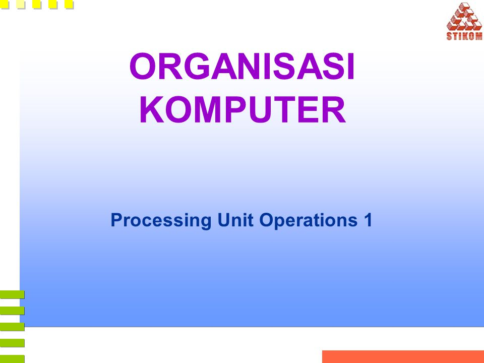 Processing Unit Operations 1