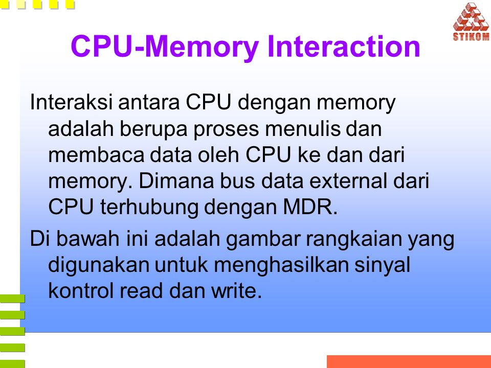 CPU-Memory Interaction