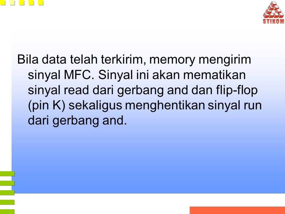 Bila data telah terkirim, memory mengirim sinyal MFC