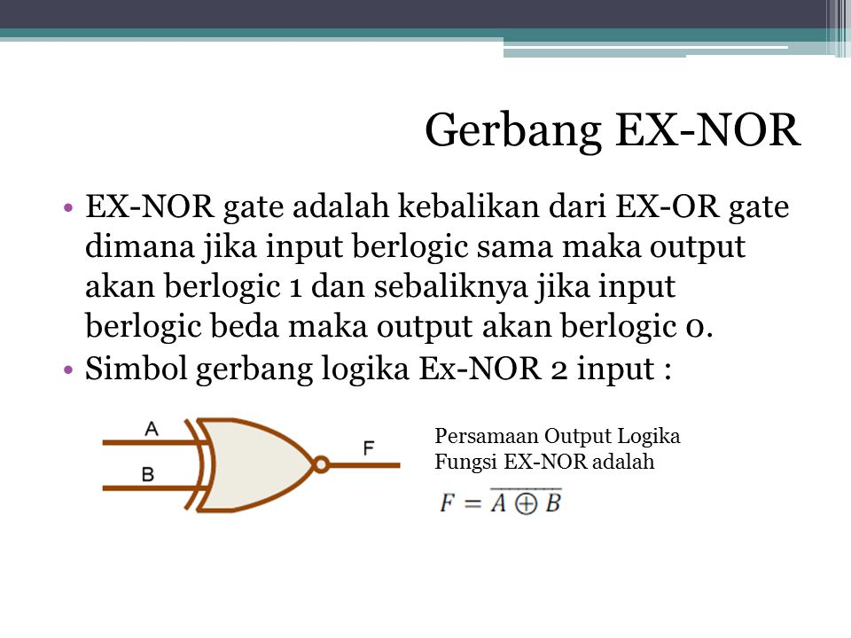 Gerbang EX-NOR