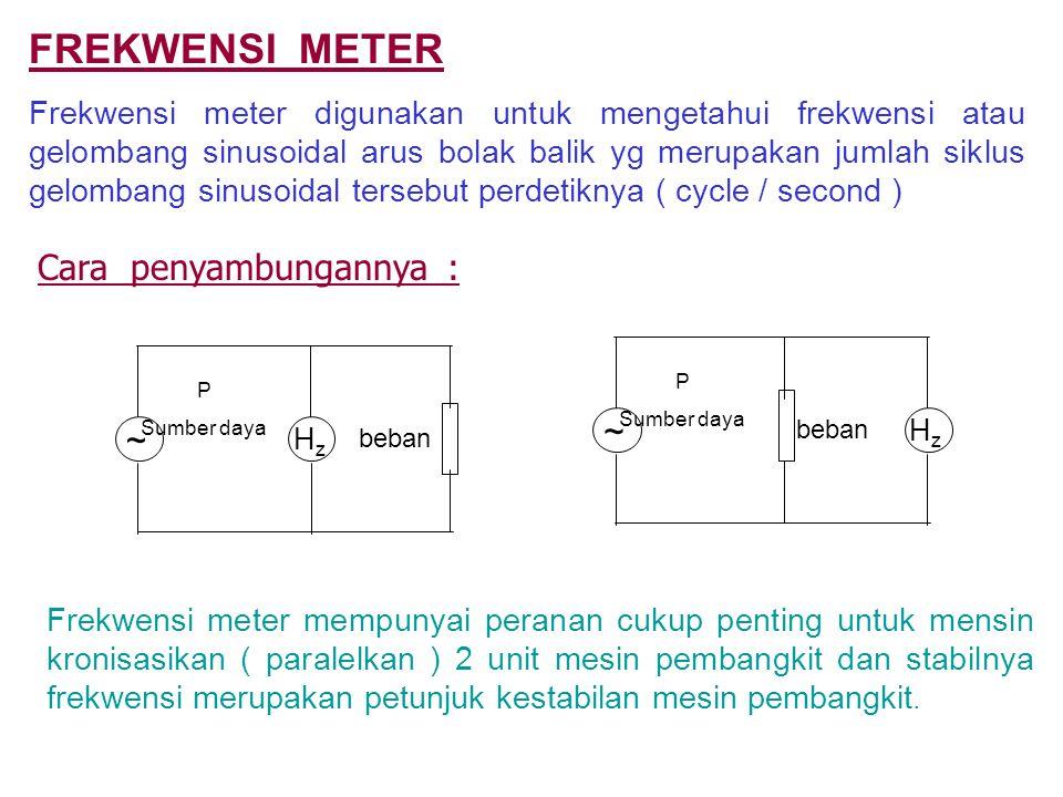 FREKWENSI METER Cara penyambungannya : ~