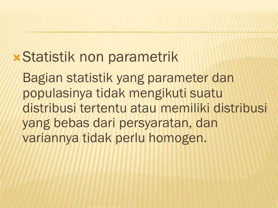 Statistik non parametrik