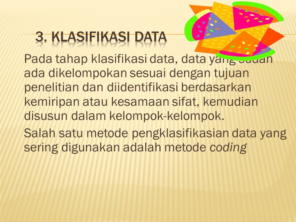 3. Klasifikasi Data