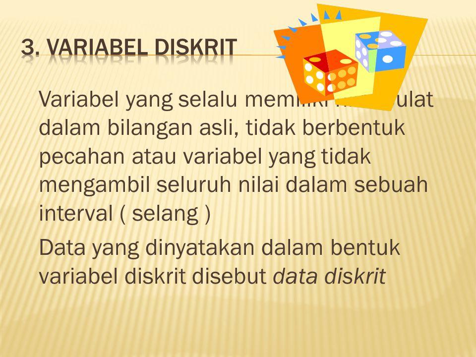 3. Variabel Diskrit