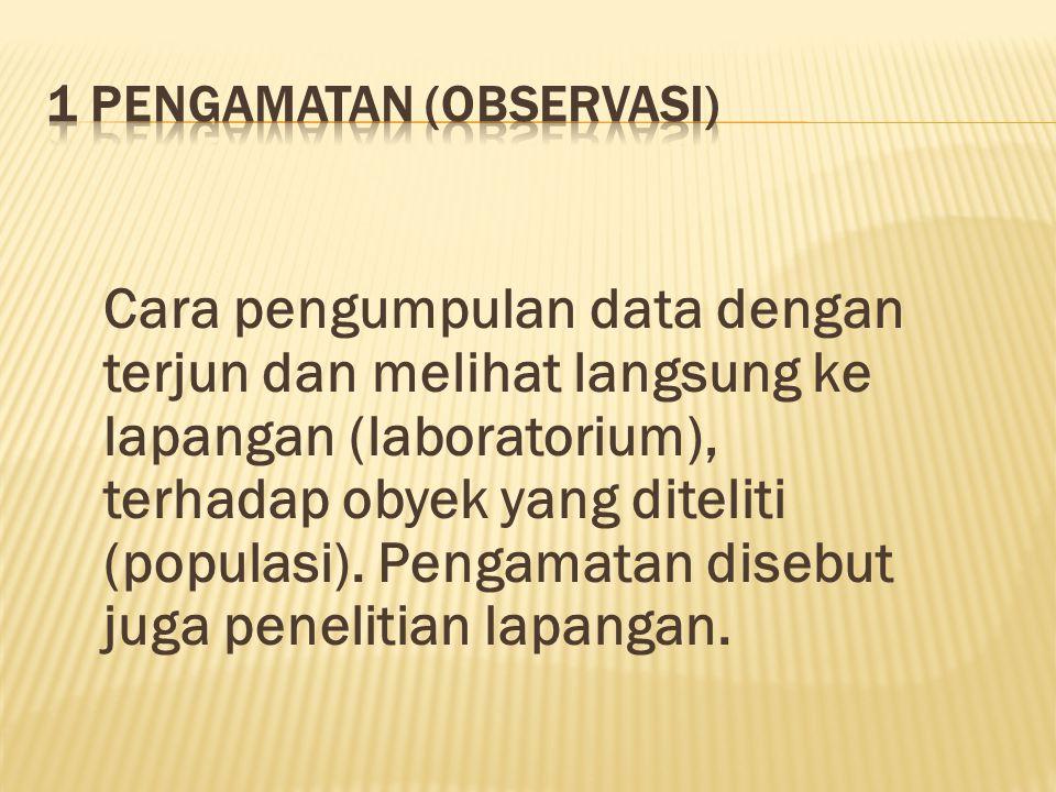 1 Pengamatan (Observasi)