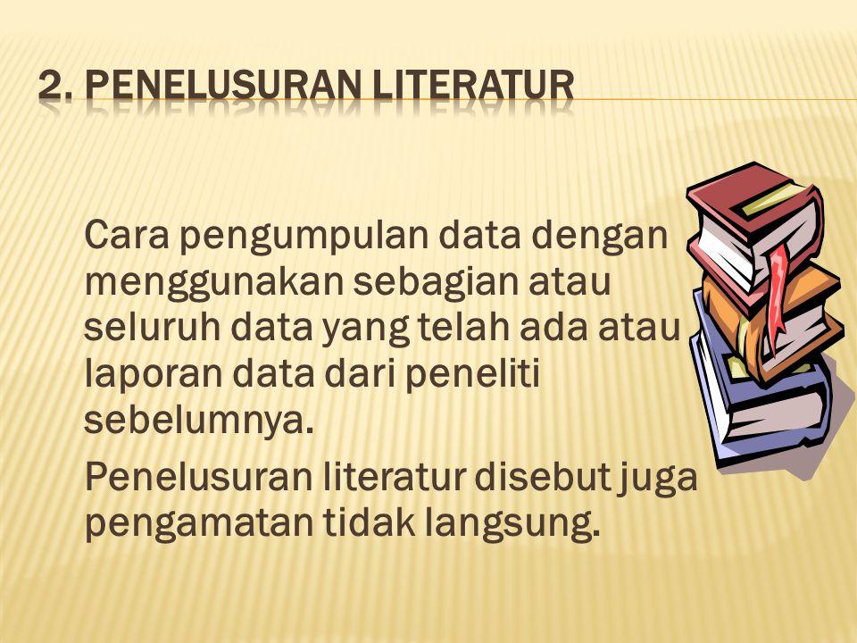2. Penelusuran literatur