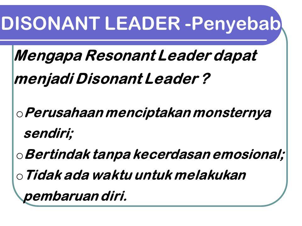 DISONANT LEADER -Penyebab