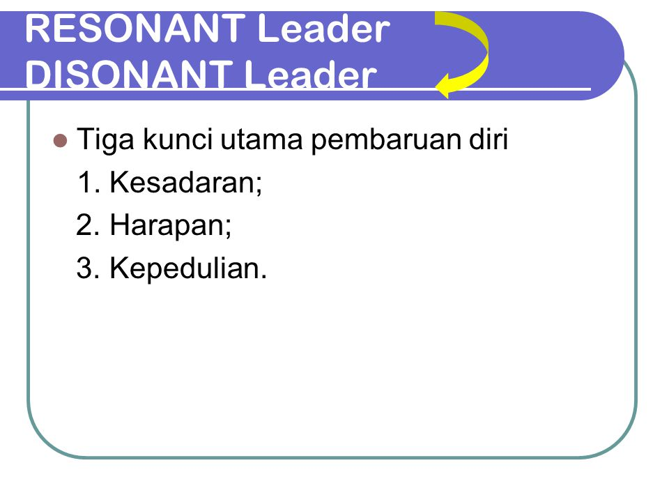 RESONANT Leader DISONANT Leader