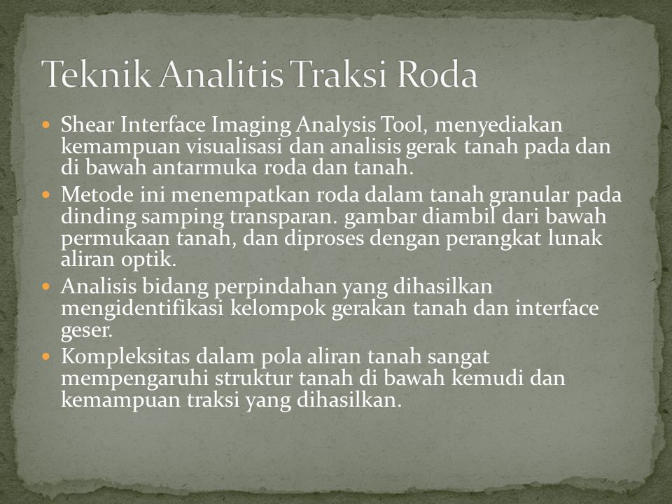 Teknik Analitis Traksi Roda