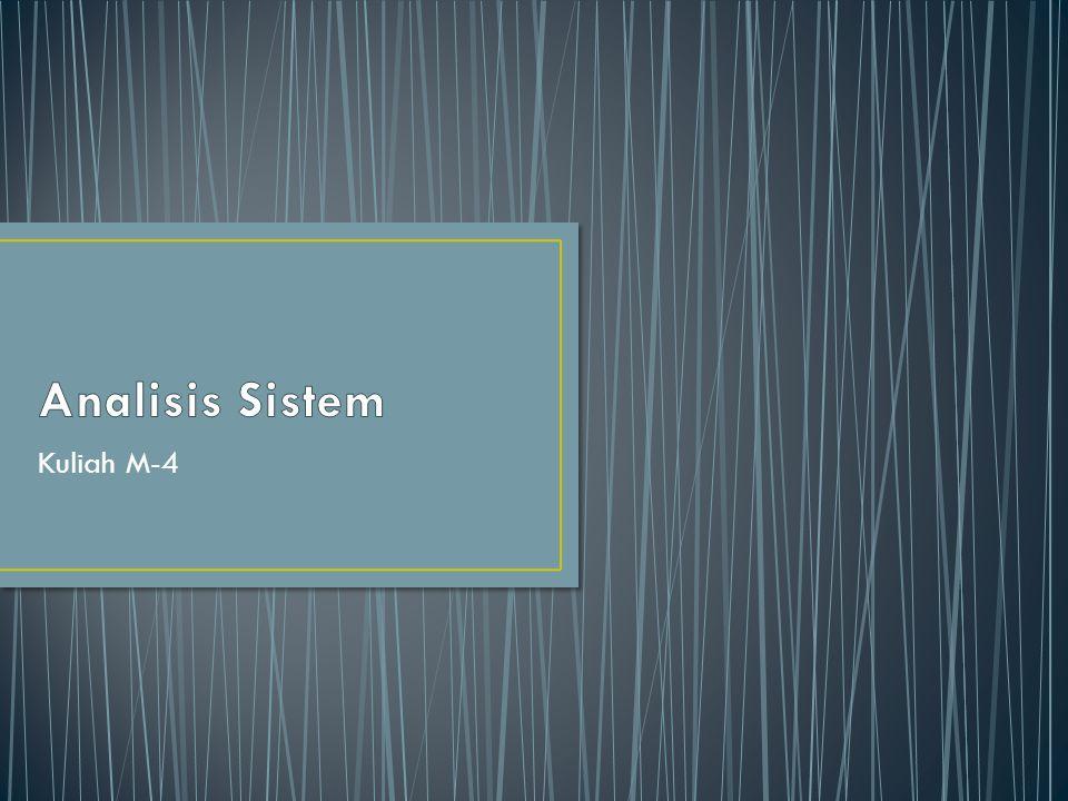 Analisis Sistem Kuliah M-4