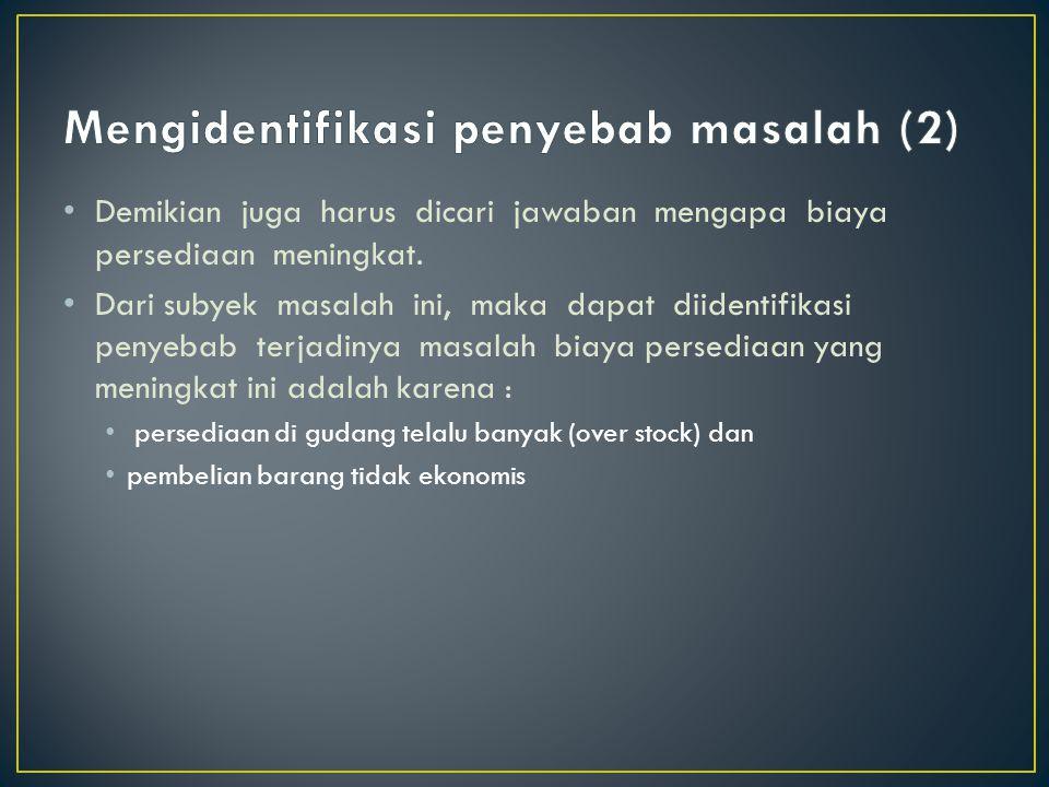 Mengidentifikasi penyebab masalah (2)