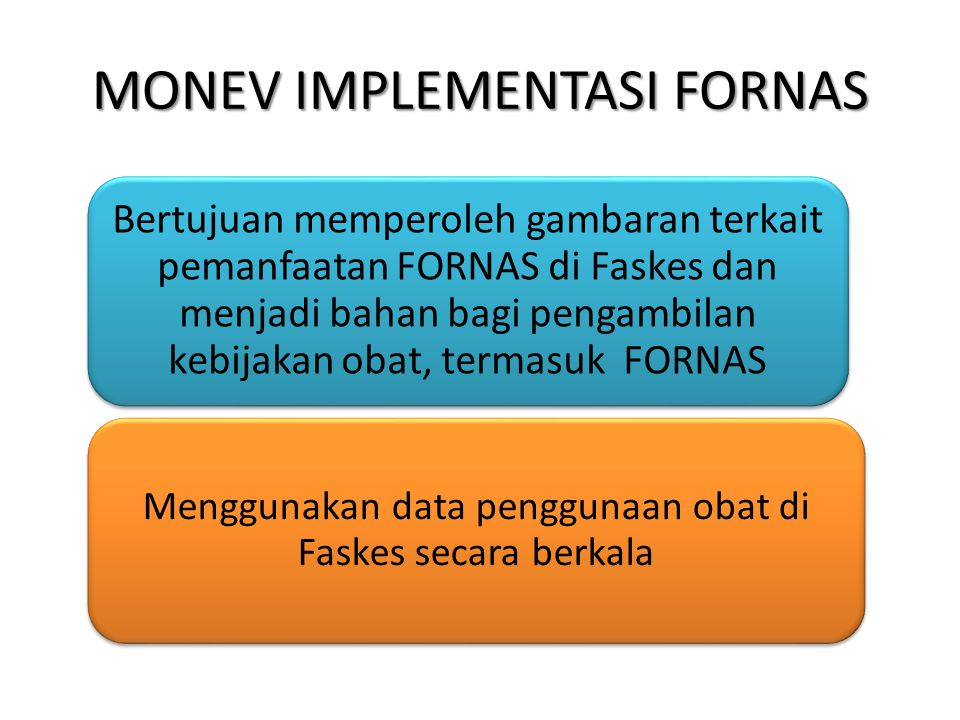 MONEV IMPLEMENTASI FORNAS