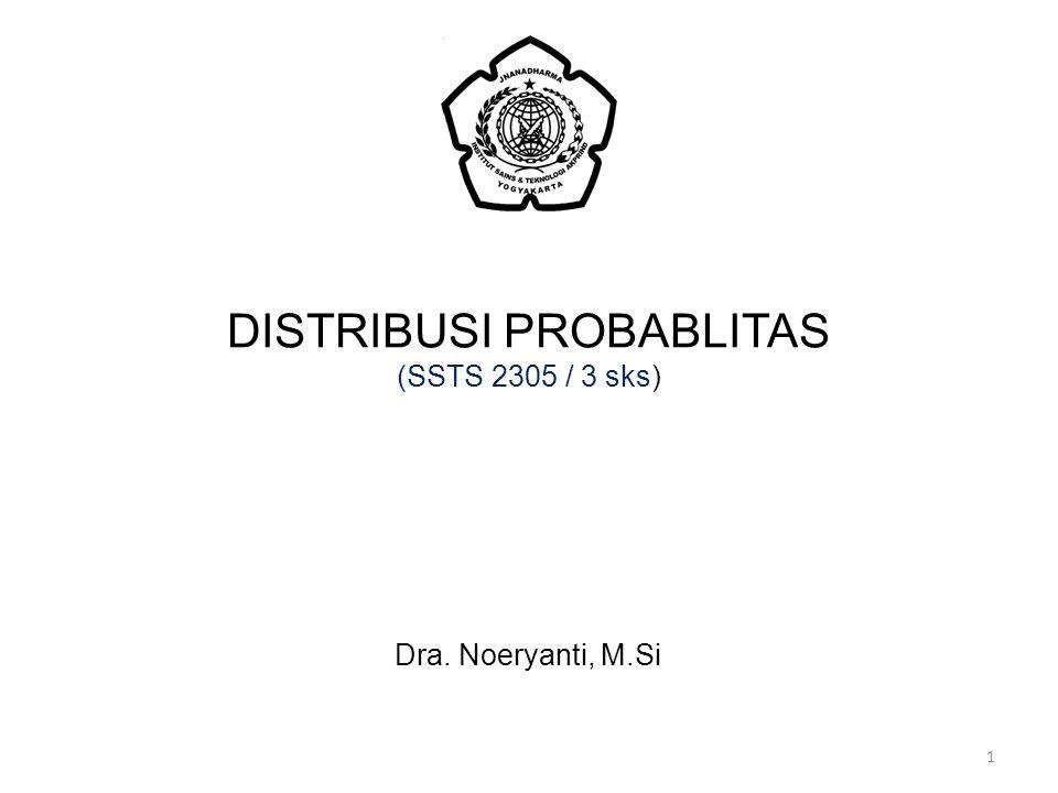 DISTRIBUSI PROBABLITAS (SSTS 2305 / 3 sks)