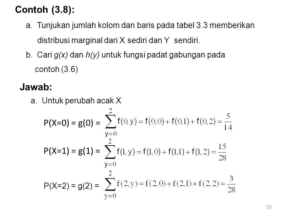 a. Tunjukan jumlah kolom dan baris pada tabel 3.3 memberikan