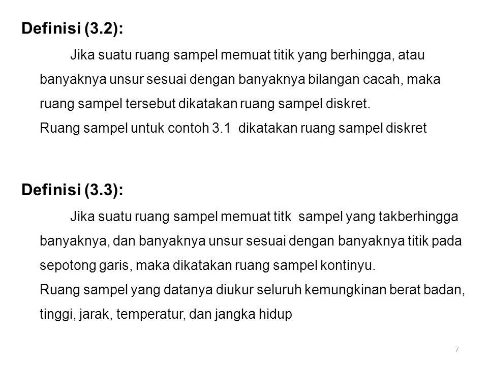 Definisi (3.2): Definisi (3.3):